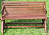 Лавка деревянная Трансформер(Юта) 1500х900х670 розлож 760х1380