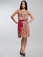 Платье штапельное 2135 оранжевое, фото 1