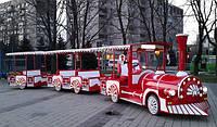 Бензиновый прогулочный паровоз на пневмоходу Фиеста - парковые аттракционы, уличные аттракционы