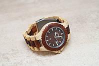Эксклюзивные брендовые деревянные наручные часы BeWell (клен, сандал)