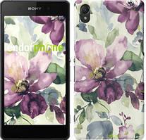 "Чехол на Sony Xperia E5 Цветы акварелью ""2237c-458"""