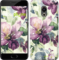 "Чохол на Meizu Pro 6 Plus Квіти аквареллю ""2237u-678"""