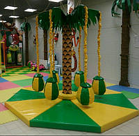 Карусель кокосовая Пальма-8 для детей в помещение,торговый зал,на улицу,парковый аттракцион