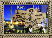 Магнит карта Достопримечательности Киева
