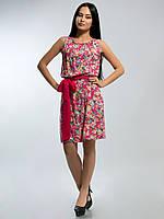 Платье штапельное 2135 розовое, фото 1