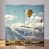 """Ширма декоративная """"Воздушные шары над горами"""""""