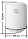 Бойлер Atlantic O'Pro Turbo 50л. VM 050 D400-2-B (водонагреватель), фото 4