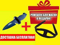 Нож для подводной охоты Sargan Сейм; чернёный сарган