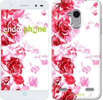 """Чохол на ZTE V7 Lite Намальовані троянди """"724u-434"""""""