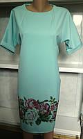 Нарядное платье с карманами и цветами