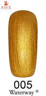 Гель лак F.O.X для техники Waterway 005, золотой, 6 мл
