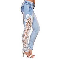 Голубые джинсы с ажуром РМ7113