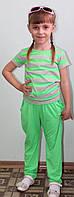 Костюм для девочки летний салат, фото 1