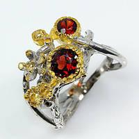 Гранат, серебро 925, кольцо ручная работа, 443КГ