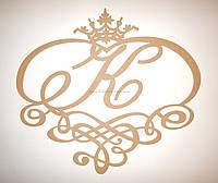 К Свадебная монограмма. Семейный герб. Ажурная рамка заготовка для декора
