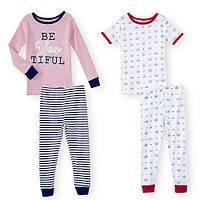 Пижама детская, комплект 4 предмета девочке,хлопок, BabiesRus,слип