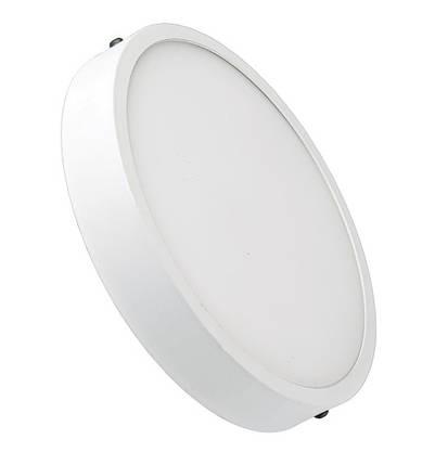 Светодиодный cветильник накладной Slim LUXEL 24W 4000K круглый белый Код.57548, фото 2