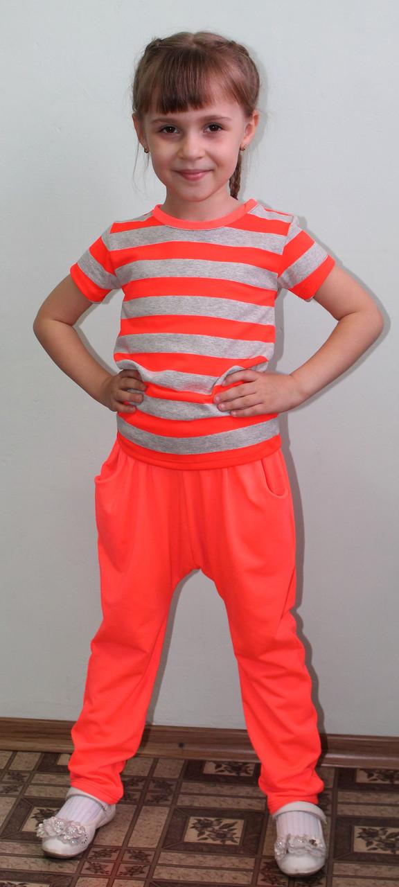Костюм для девочки летний оранж