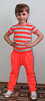 Костюм для девочки летний оранж, фото 1