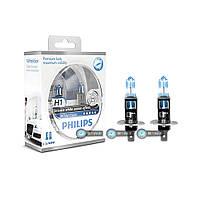 Галогенновые лампы Philips H1 White Vision 12258whvsm
