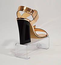 Босоножки золотистые на каблуке Lottini 11-148, фото 2