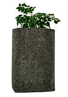 Горшок из ткани для выращивания растений 15-16л(диаметр 24-26см/высота 30-32см)