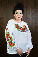 Красивая женская вышиванка с цветами 215