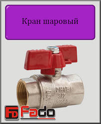 """Кран кульовий Fado NEW 1/2"""" ВВ PN40 (метелик)"""