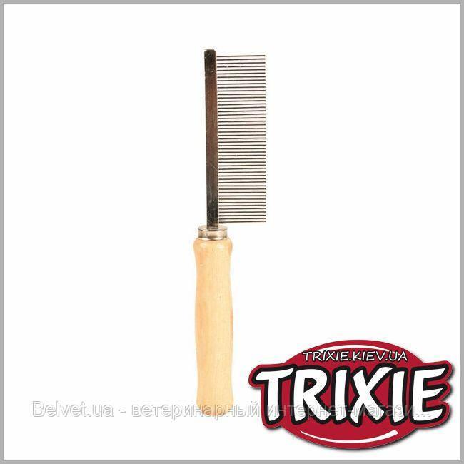 Расческа с деревянной ручкой TRIXIE