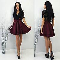 Платье нарядное с юбкой свободной.верх гепюр,юбка габардин