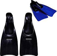 Детские ласты для плавания Intex 55933: размер S (22-24 см, 35-37 рр), 20х60х15 см, чёрный/ синий