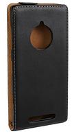 Кожаный чехол флип для  Nokia Lumia 830 черный
