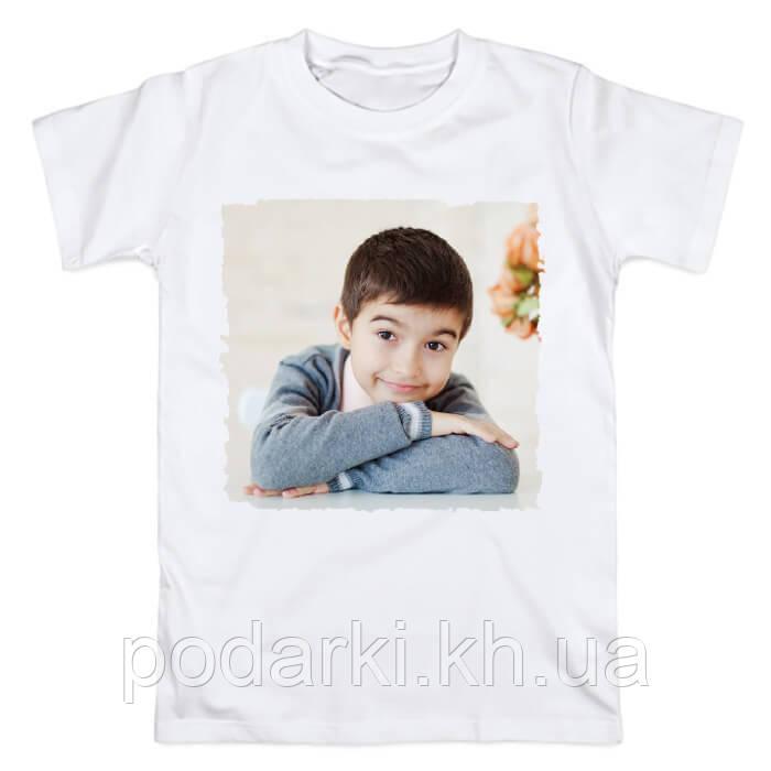 Подростковая футболка с фотографией ребенка