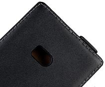 Кожаный чехол флип для  Nokia Lumia 900 черный, фото 2