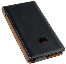 Кожаный чехол флип для  Nokia Lumia 900 черный, фото 3
