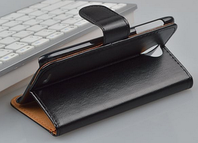 Кожаный чехол для Lenovo S820 черный, фото 2