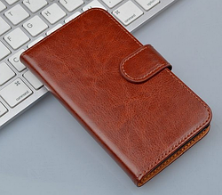 Шкіряний чохол книжка для Lenovo P770 коричневий