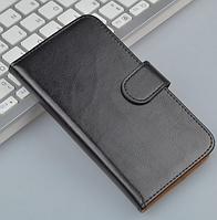 Кожаный чехол-книжка для Lenovo S850 черный, фото 1