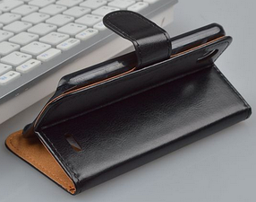 Кожаный чехол для Lenovo A800 коричневый, фото 3