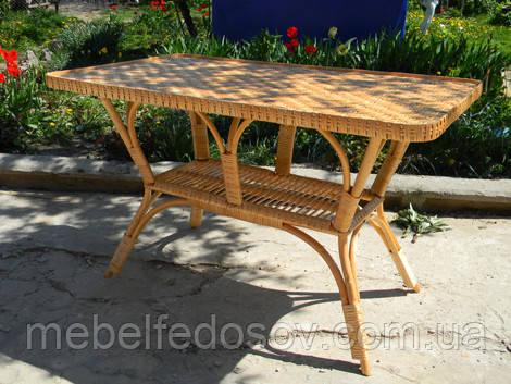 Стол плетеный из лозы прямоугольный стандарт 1100х800 h750