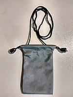 Чехол прорезиненная ткань для mp3,  mp4, серый