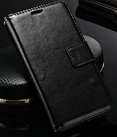 Кожаный чехол-книжка для Lenovo Vibe Shot Z90-7 черный, фото 1