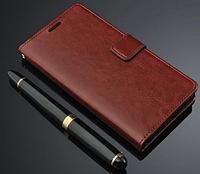 Кожаный чехол-книжка для Lenovo Vibe Shot Z90-7 коричневый, фото 1