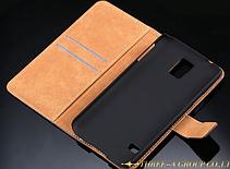 Кожаный чехол-книжка для Samsung Galaxy S5 i9600 SM-G900 розовый, фото 3
