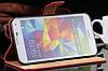 Кожаный чехол-книжка для Samsung Galaxy S5 i9600 SM-G900 розовый, фото 2
