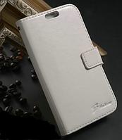 Кожаный чехол-книжка для Samsung Galaxy S4 i9500 белый, фото 1