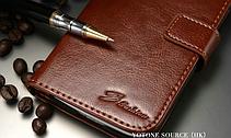 Кожаный чехол-книжка для Samsung Galaxy S4 i9500 белый, фото 3