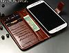 Кожаный чехол-книжка для Samsung Galaxy S4 i9500 белый, фото 2