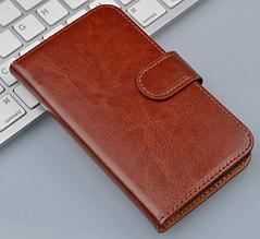 Шкіряний чохол-книжка для Lenovo S60 s60t коричневий