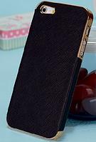 Роскошный чехол бампер для iPhone 5 5S хром черный, фото 1